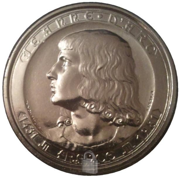 Jeanne d'arc médaille d'après prud'homme monnaie de paris argent 1