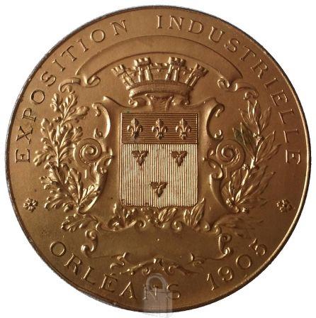 Medaille_Jeanne_d__Arc_orleans_exposition_industrielle_1905__R